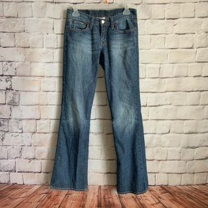 Lucky Brand Dungarees Mid Rise Flare Jeans,  2